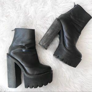 Jeffrey Campbell Mulder Platform Leather Boots